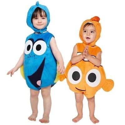 Disney Offizielle Kostüme (Offiziell Disney Finding Dory Nemo Überwurf mit Hut Kostüm Weihnachtsgeschenk)