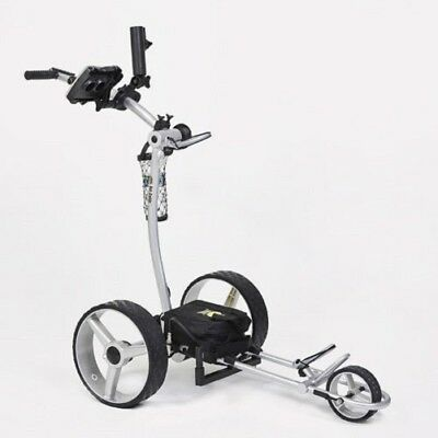 Bat Caddy X4 Classic Manual Electric Golf Bag Cart Silver-12V 35/36Ah Battery for sale  Shipping to South Africa