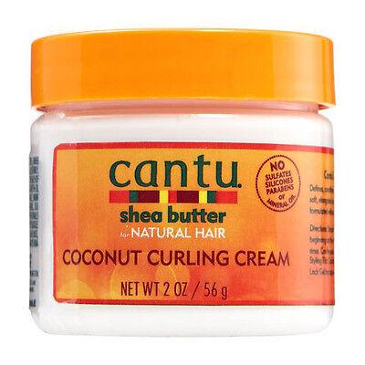 Cantu Shea Butter Coconut Curling Cream Define Moisture Restore Hair Travel 2oz