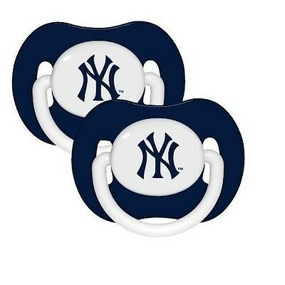 NEW YORK YANKEES  2 PACK BABY PACIFIERS NEW BPA FREE NEW & OFFICIALLY LICENSED
