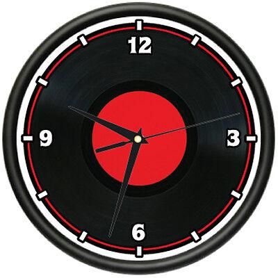 VINYL RECORD Wall Clock dj disc jockey player lp mixer gift