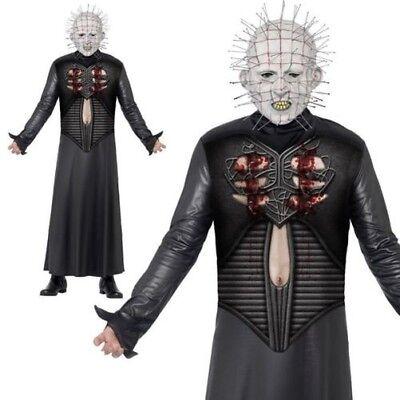 Adult Hellraiser Pinhead Costume Mens Halloween Fancy Dress Outfit + Mask](Hellraiser Outfit)