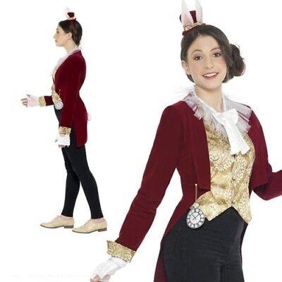 Teen Mr Rabbit Alice Tea Party Fairytale Costume Girls Book