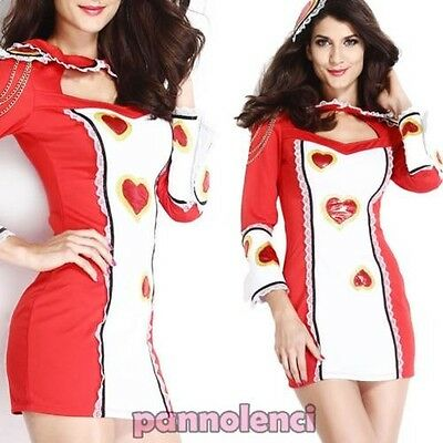 costume carnival dress woman Card HEARTS suit costume DL-1535
