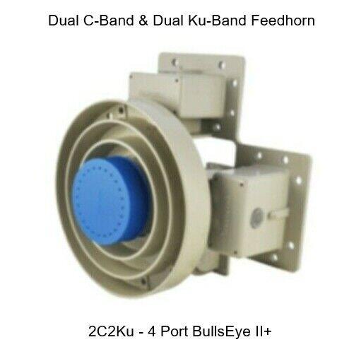 Bullseye II+ Wideband feedhorn. Dual C-Band Dual Ku-band Feed Horn. - Brand New