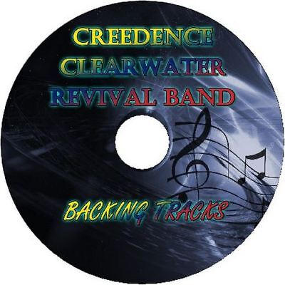 CREEDENCE CLEARWATER REVIVAL BAND GUITAR BACKING TRACKS CD BEST GREATEST