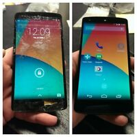 LG Nexus 4 5 7 G G2 G3 G4 cracked screen LCD repair FAST