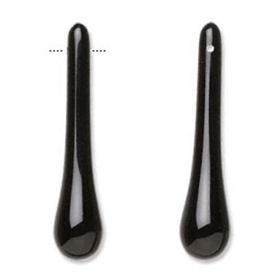 Bead Teardrop Onyx 37mm PK2 *UK EBAY SHOP*