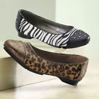 Flat (0 to 1/2 in.) Animal Print Leopard Heels for Women