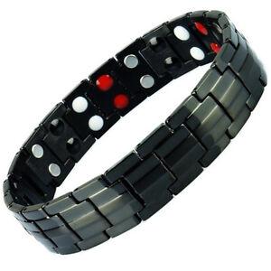 Anion-Magnetic-Energy-Germanium-Power-Bracelet-Health-4in1-Bio-Armband-TITANIUM
