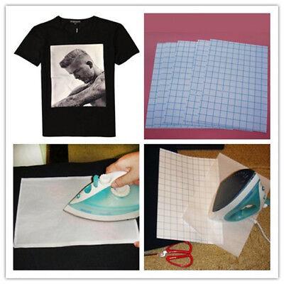 20 Sheets Iron On Heat Transfer Paper Dark Color Cotton T-shirt A4 Inkjet Print