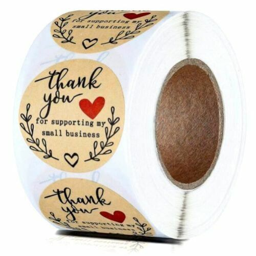 """THANK YOU FOR SUPPORTING MY SMALL BUSINESS ENVELOPE SEALS LABELS STICKERS 1"""""""