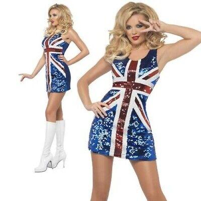 Spice Girls Sequin Dress Union Jack Fancy Dress - Fancy Dress Spice Girls