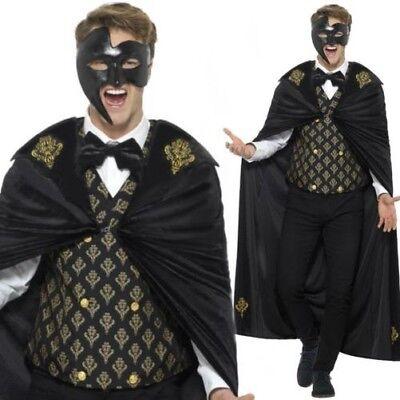 Herren Dunkel Phantom der Oper Maskerade Kostüm Halloween Kostüm M-XL