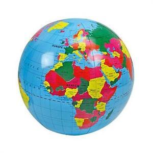Otto Simon 778-1110 - Aufblasbarer Globus Wasserball Bechball Weltkugel Erde NEU