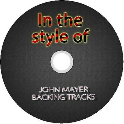 JOHN MAYER IN THE STYLE OF GUITAR BACKING TRACKS CD BEST OF BLUES MUSIC MODERN