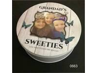 Personalised sweet tins