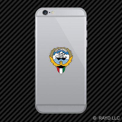 Kuwaiti Emblem Cell Phone Sticker Mobile Kuwait flag KWT KW