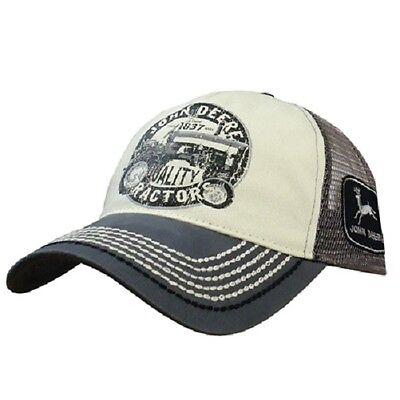 John Deere Hat, John Deere 13080288 Cap.  NWT. Grey