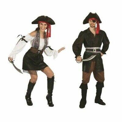 Paar Piraten Kostüme Damen Herren Kostüm Outfit Karibik Piraten - Neue Paare Kostüm