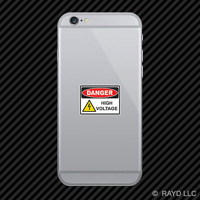 Danger High Voltage Cell Phone Sticker Mobile Die Cut