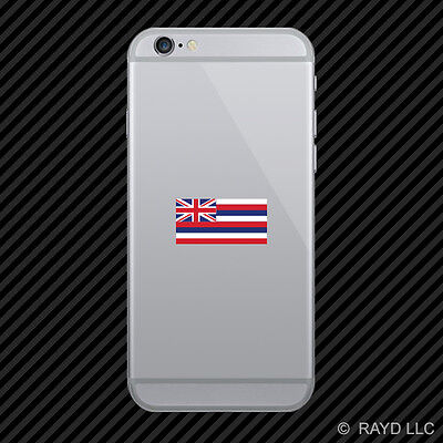 Hawaii Flag Cell Phone Sticker Mobile Die Cut hawaiian state the aloha