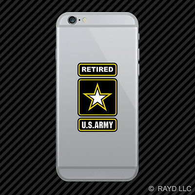 Retired Army Cell Phone Sticker Mobile Die Cut Ranger