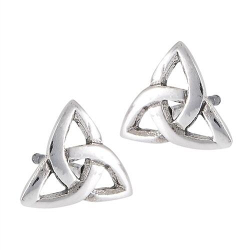 Stainless Steel Irish Celtic Trinity Knot post earrings