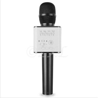 Used, Q9 Mini Wireless Bluetooth Karaoke Microphone Speaker Home KTV USB Player Black for sale  Shipping to India