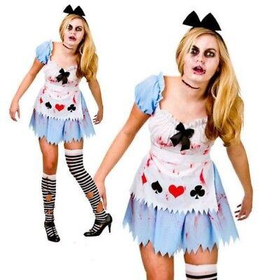 Zombie Alice Im Wunderland Kostüm Geschichtenbuch Damen Kostüm ()