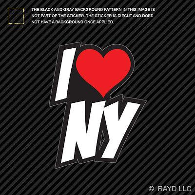 I Love NY Sticker Decal Self Adhesive Vinyl heart new york - I Heart Ny Sticker