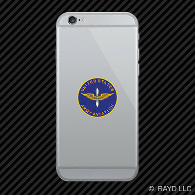 US Army Aviation Branch Plaque Cell Phone Sticker Diecut Decal