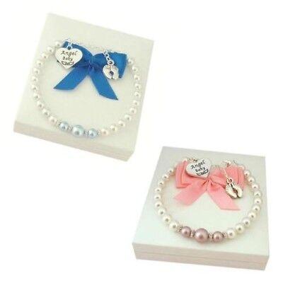 Baby Verlust Armband für Jungen oder Mädchen, Angel Baby, Fußabdrücke Sympathie