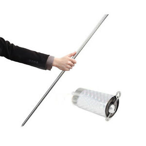 Magic Item Appearing Cane Wand Stick Metal Stage Magic Trick Gimmick Silver