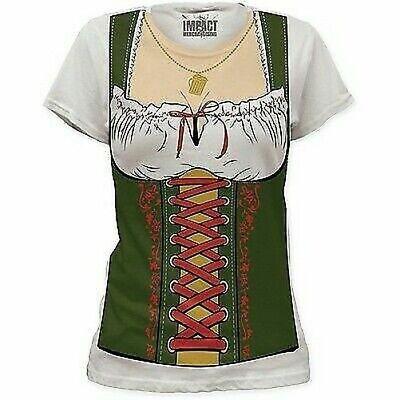 Deutsches Oktoberfest Gretchen Beer Dienstmädchen Fräulein Damen Kostüm - Deutsch Fraulein Kostüm