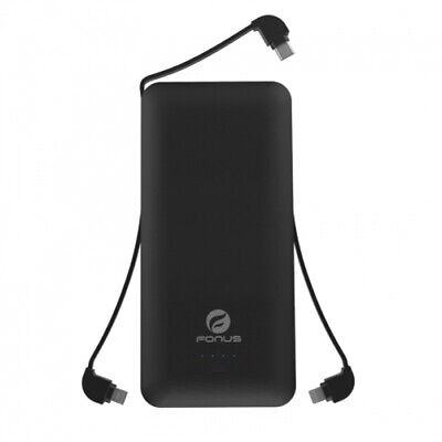 10000mAh Backup Portable Battery Charger Built-in Cables AC Plug Power Bank Built In Battery Backup