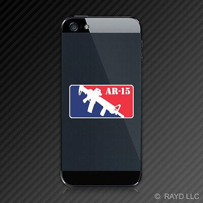 (2x) Major League AR15 AR-15 Cell Phone Sticker Decal Mobile 2A Rights