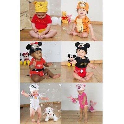 Offiziell Disney Charakter Baby Mädchen Jungen Trikot Body + Hut Weihnachten (Disney Jungen Charaktere)