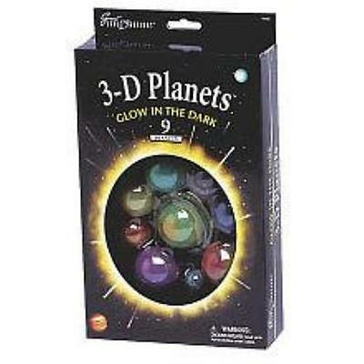 3 D Glow In The Dark 9 Planets Solar System Educational