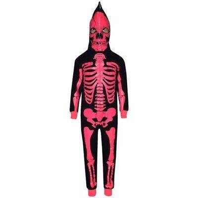 Niño Niña Esqueleto Estampa A2Z Mono de una Sola Pieza Disfraz Halloween 5-13](De Unas De Halloween)