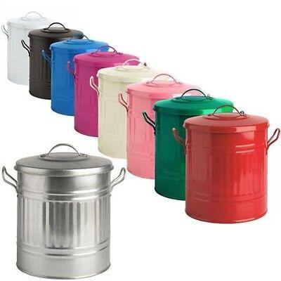 15L 15 Liter Farbe Mini Metall Mülleimer klein Abfalleimer Müll Badezimmer