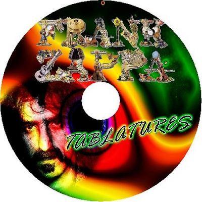 FRANK ZAPPA BASS & GUITAR TAB CD TABLATURE BEST OF GREATEST HITS JAZZ ROCK