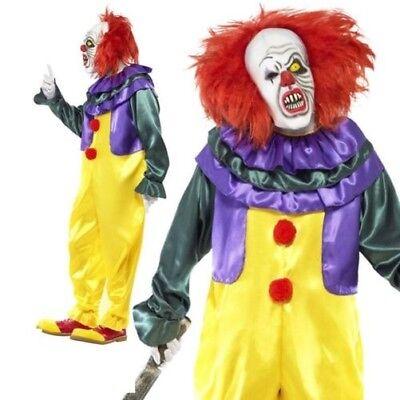 Erwachsene Pennywise Kostüm It Halloween Herren Gruseliger Clown Luxus Outfit