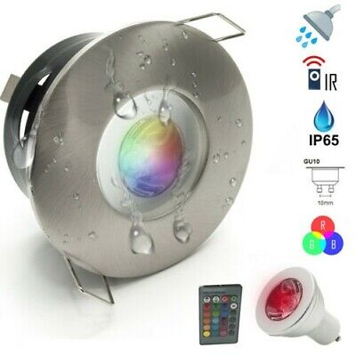 Gu10 Dusche Licht (Strahler LED Licht Bunt Dusche 3W Badezimmer Türkisch Farbtherapie IP65 GU10 RGB)