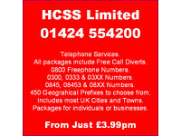 0800 & other Numbers with Inclusive Minutes - Divert for Free to Mobile or a Landline -