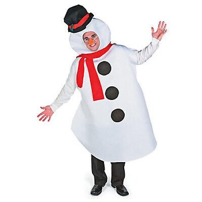Schneemann Erwachsene Kostüm Olaf Halloween Weihnachten Winter Eiskönigin Herren (Schnee Königin Kostüm Halloween)