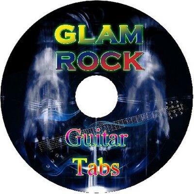 GLAM ROCK BASS & GUITAR TAB CD TABLATURE GREATEST HITS BEST OF BLUES ROCK