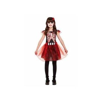 en Skelett Rot Rock Mexikanische Verkleidung Outfit (Tag Der Toten Mädchen Outfits)