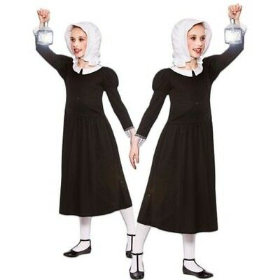 Girls Florence Nightingale Victorian Nurse Maid Fancy Dress Costume Outfit 4-13