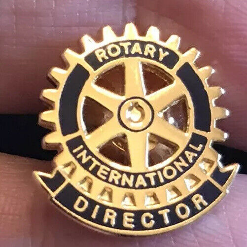Vintage Rotary International Director Enamel And Gold Tone Lapel Pin